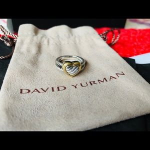 Anthentic David Yurman Classic Cable Heart Ring
